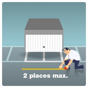 fermer un emplacement de stationnement : 2 emplacements maximum