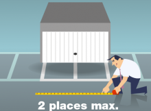 fermer un stationnement : 2 emplacements maximum